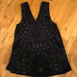 Free people embroidered double v dress